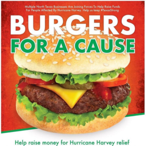 Burgers For A Cause - Cafe Momentum - Dallas for Houston - Hurricane Harvey Fundraiser